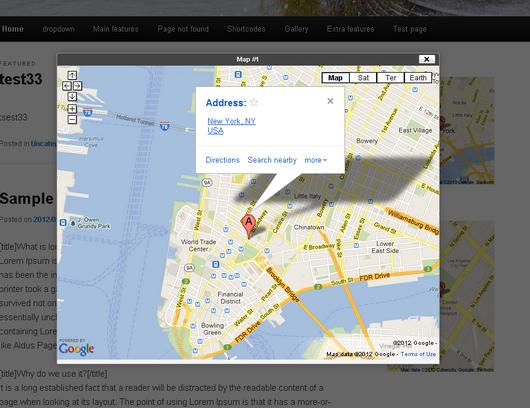 گوگل مپ وردپرس