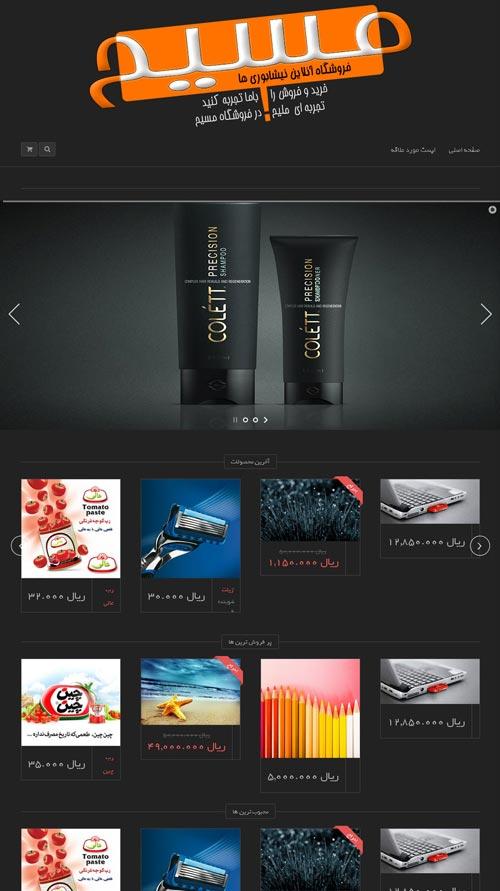 طراحی قالب وب سایت نیشابوری ها