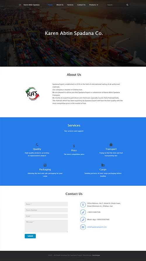 طراحی سایت کارن آبتین اسپادانا