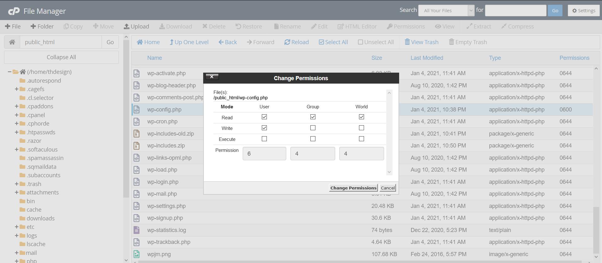 رفع خطای 403 وردپرس با تنظیم سطح دسترسی فایلها و پوشهها