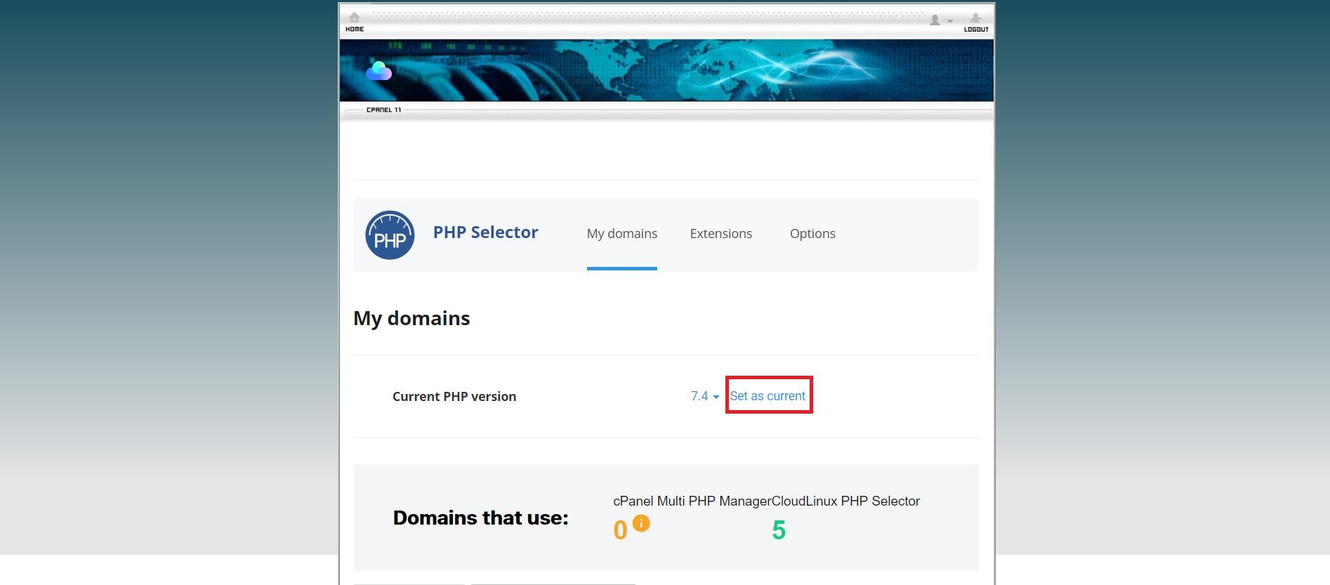 آموزش تغییر نسخه PHP در سی پنل