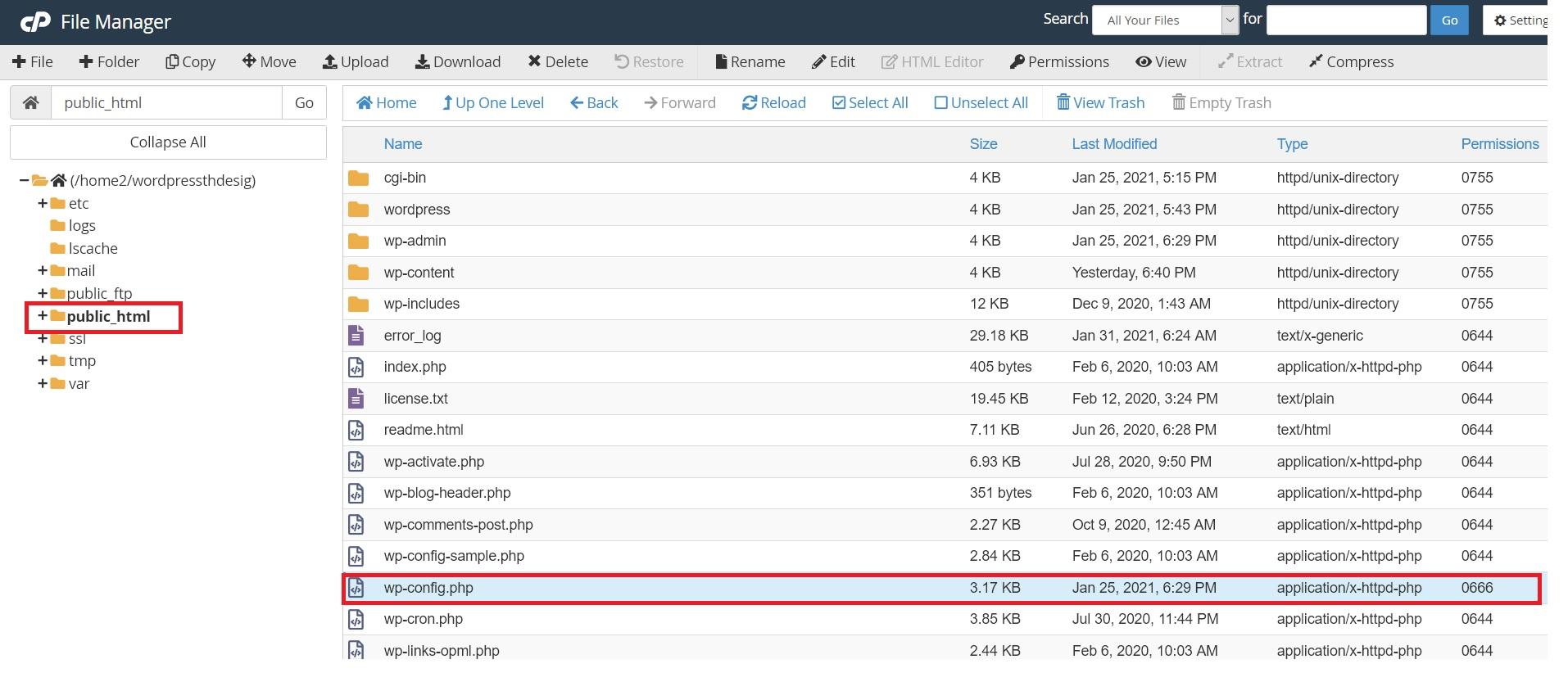 فایل wp-config وردپرس در هاست