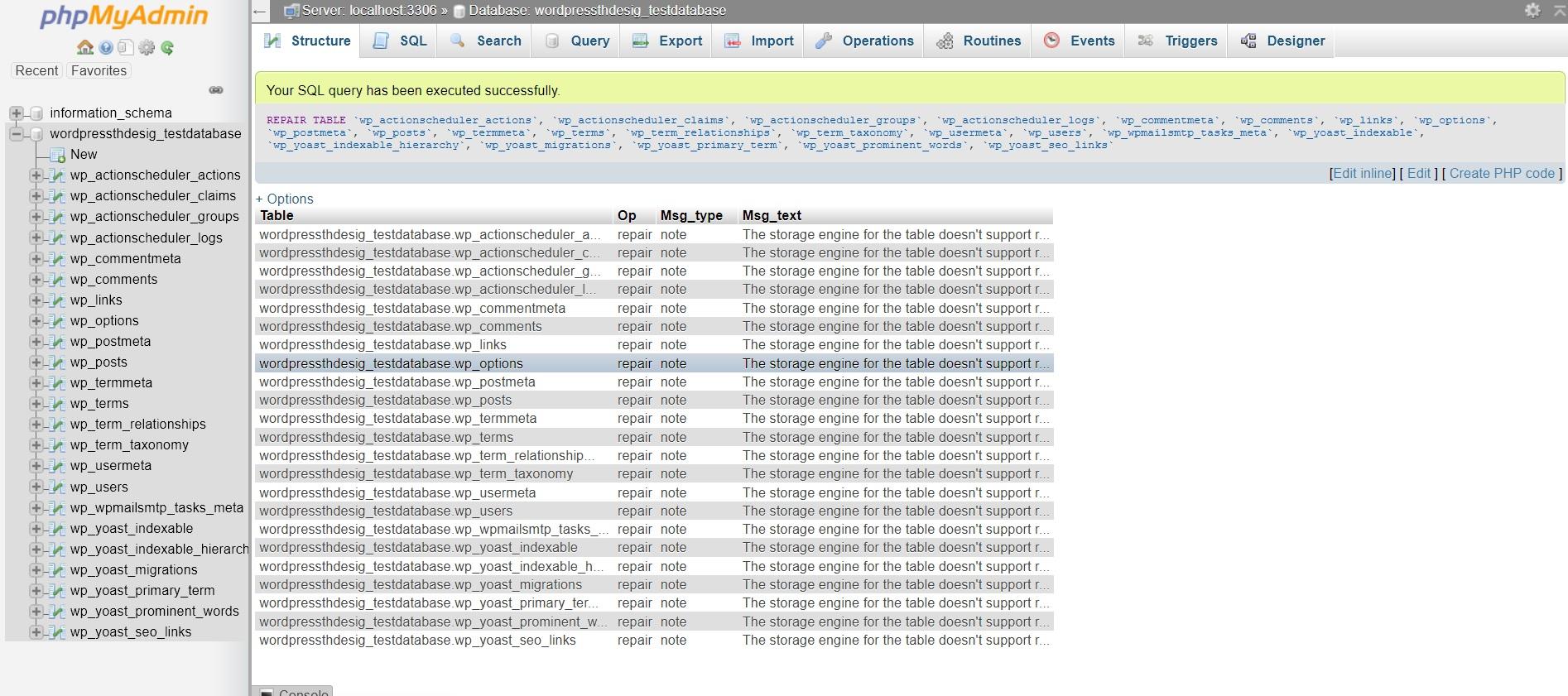 آموزش تعمیر دیتابیس در سی پنل از طریق phpmyadmin