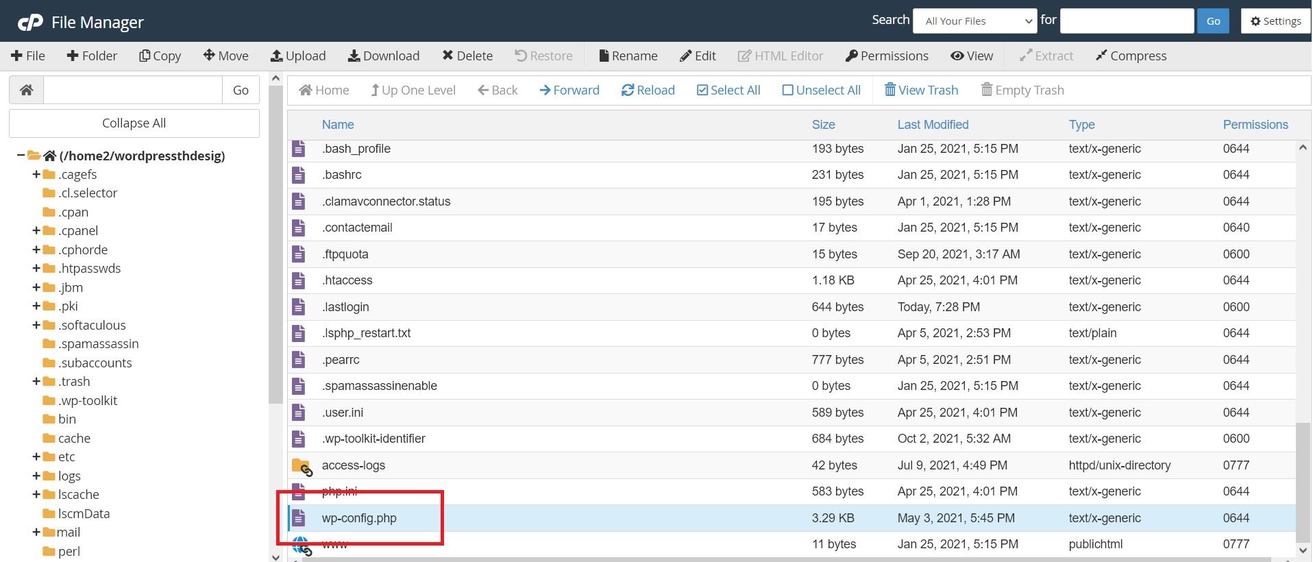 آموزش تغییر مسیر فایل wp-config.php در وردپرس